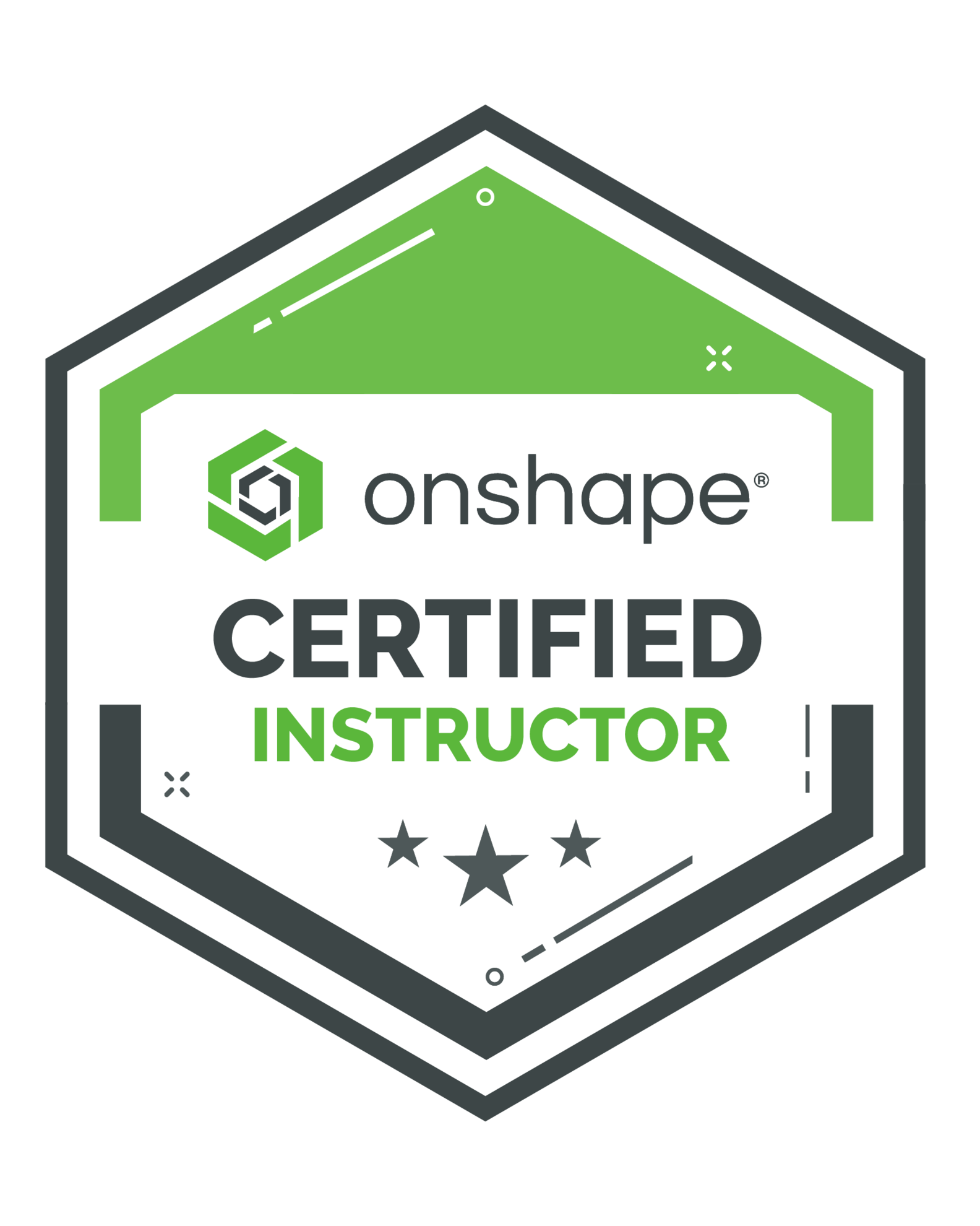 Onshape Certified Instructor Badge